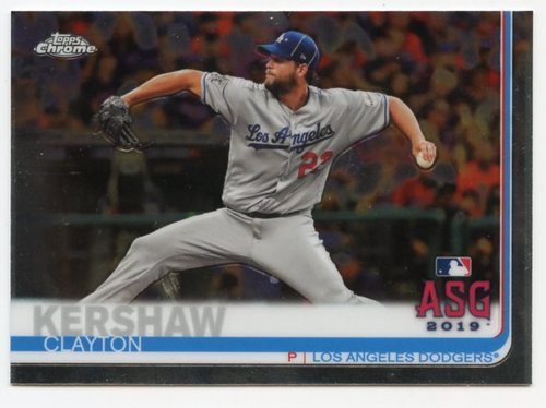 Photo of 2019 Topps Chrome Update #91 Clayton Kershaw AS