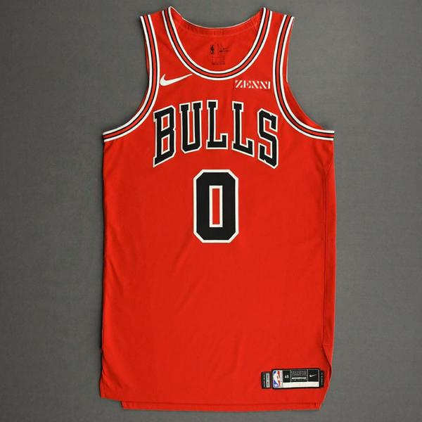 Image of Coby White - Chicago Bulls - Kia NBA Tip-Off 2020 - Game-Worn Icon Edition Jersey