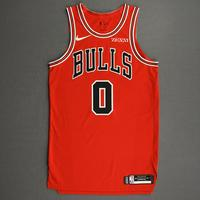 Coby White - Chicago Bulls - Kia NBA Tip-Off 2020 - Game-Worn Icon Edition Jersey
