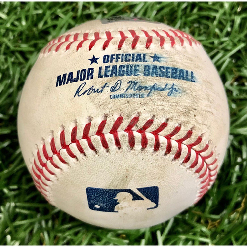 Photo of Game Used Baseball: Kevin Plawecki foul ball off Aaron Loup - September 11, 2020 v BOS