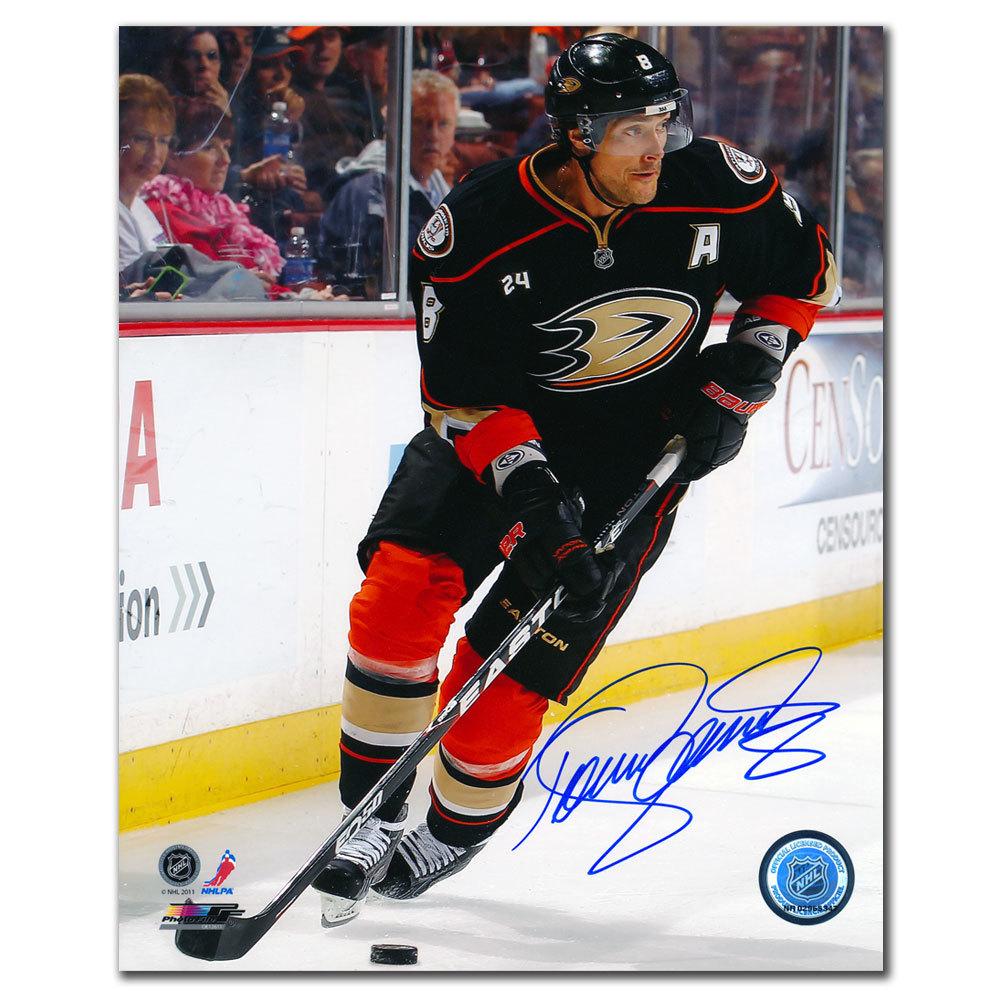 Teemu Selanne Anaheim Ducks Rush Autographed 8x10