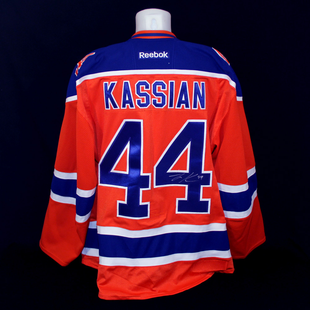 ca6b78b92f8 Zack Kassian  44 - Autographed 2015-16 Edmonton Oilers vs Calgary Flames