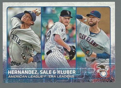 Photo of 2015 Topps #341 Corey Kluber/Chris Sale/Felix Hernandez LL