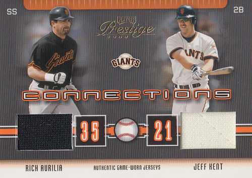 Photo of 2003 Playoff Prestige Connections Materials #55 Jeff Kent Jsy/Rich Aurilia Jsy