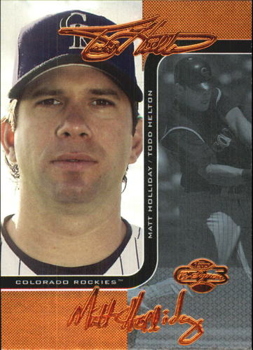 Photo of 2006 Topps Co-Signers Changing Faces Blue #49C Todd Helton/Matt Holliday