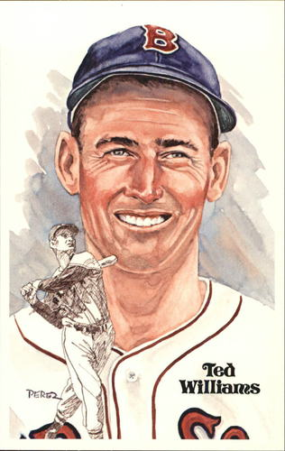 Photo of 1980-02 Perez-Steele Hall of Fame Postcards #104 Ted Williams -- HOF Class of 1966
