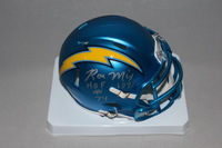 HOF - CHARGERS RON MIX SIGNED CHARGERS BLAZE MINI HELMET