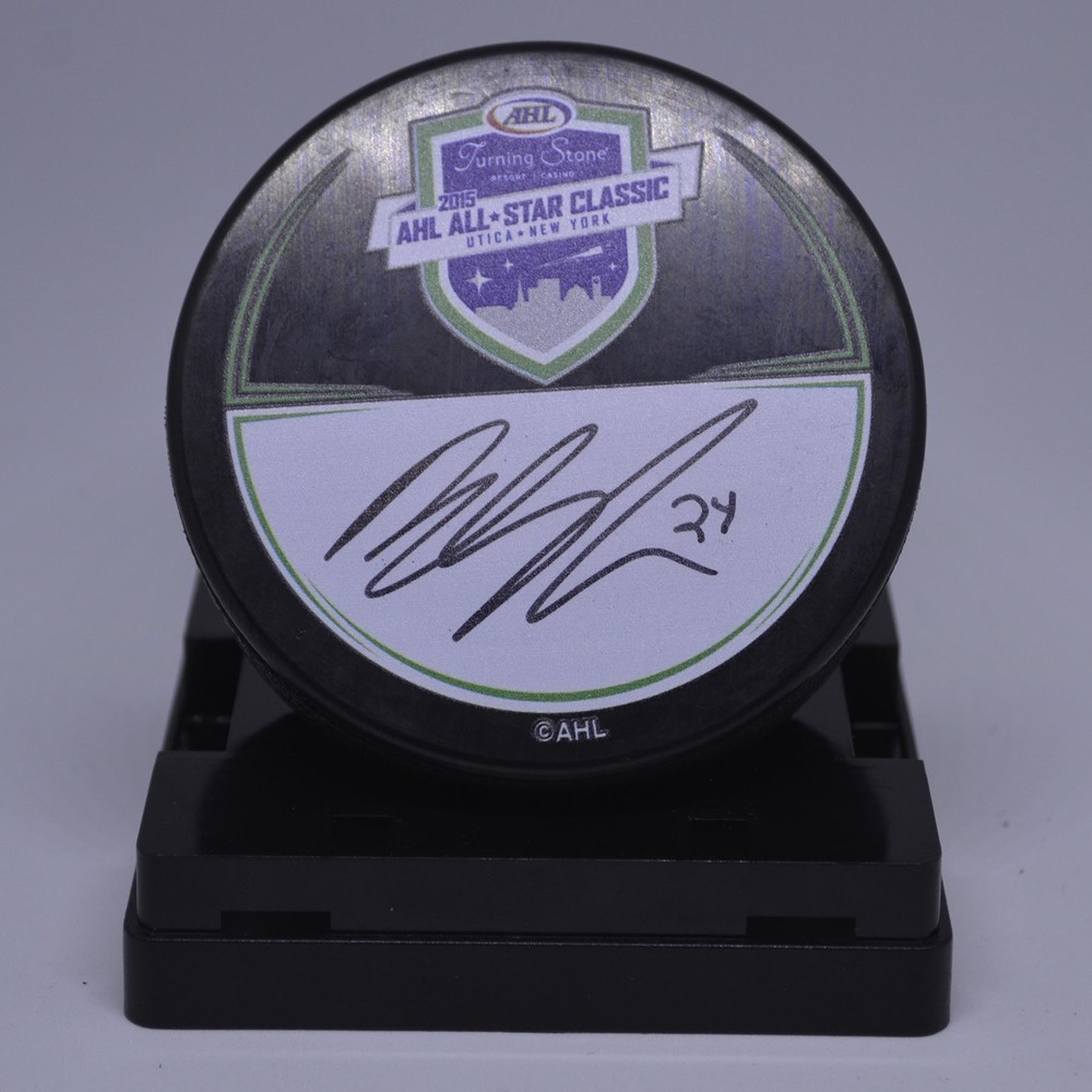 2015 AHL All-Star Classic Souvenir Puck Signed by #24 Brendan Shinnimin