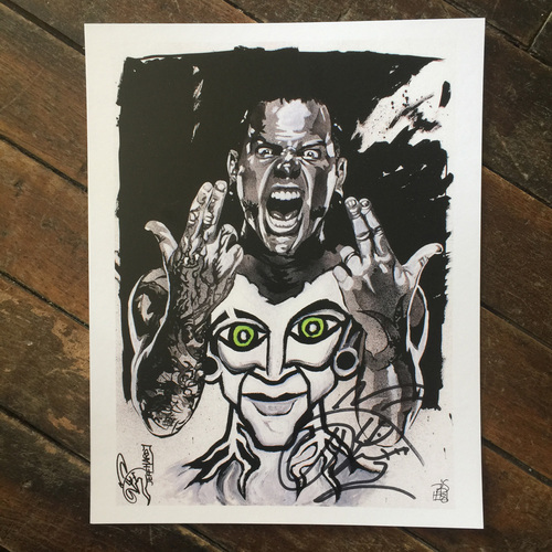Photo of Jeff Hardy SIGNED 11 x 14 Rob Schamberger Print