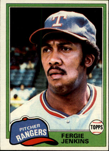 Photo of 1981 Topps #158 Fergie Jenkins -- Hall of Fame Class of 1991