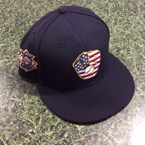Photo of Eric Thames Game-Used 2018 Stars & Stripes Cap