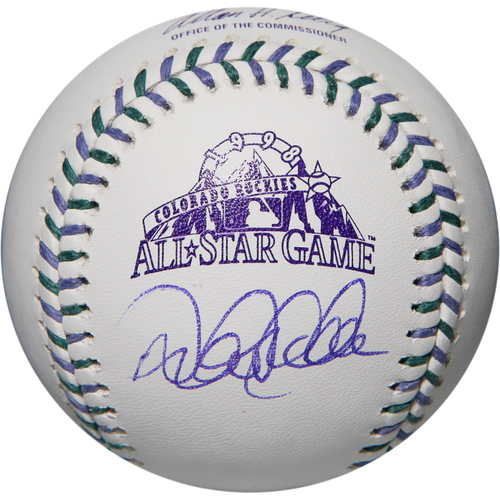 Photo of Derek Jeter Autographed 1998 All-Star Game Logo Baseball