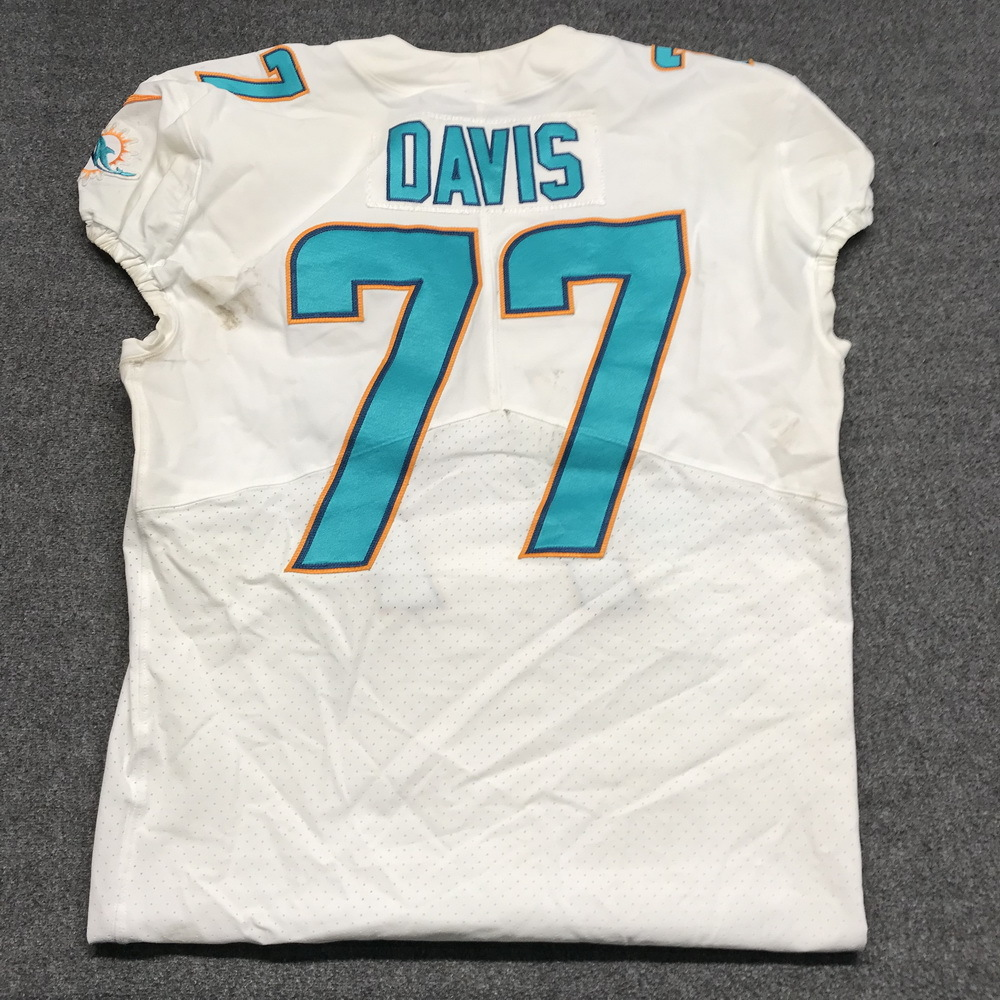 size 40 8cde8 eaa7c NFL Auction | Crucial Catch - Dolphins Jesse Davis game worn ...