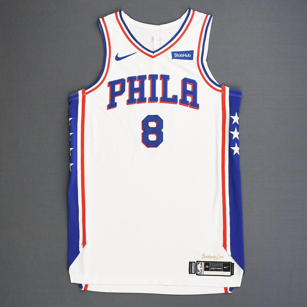 pretty nice 05f31 94fae Zhaire Smith - Philadelphia 76ers - Rookie-Debut - Game-Worn ...