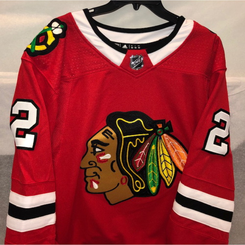 Photo of Jim Thome Blackhawks Jersey Autographed by Duncan Keith