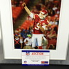Chiefs - Tyler Bray Signed Framed and Matted 8x10 (Crack in Glass)