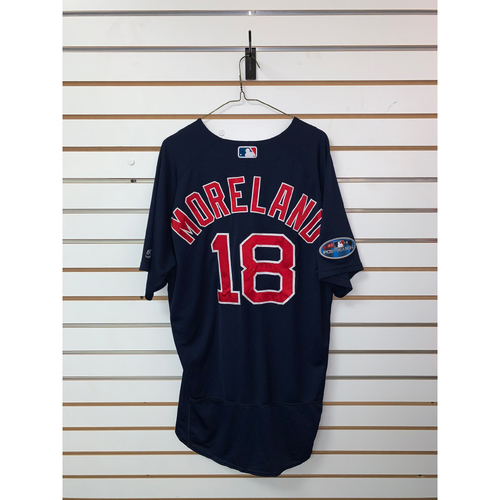 Photo of Mitch Moreland Game Used September 21, 2018 Road Alternate Jersey