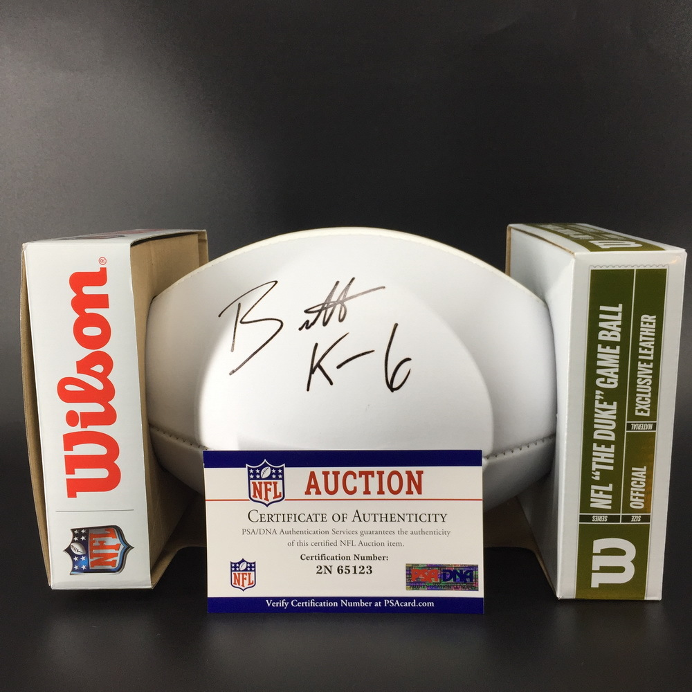 NFL - Titans Brett Kern Signed Panel Ball w/ 100 seasons logo