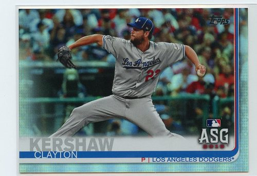 Photo of 2019 Topps Update Rainbow Foil #US284 Clayton Kershaw AS