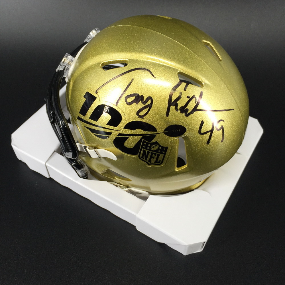Legends - Chiefs Tony Richardson Signed NFL 100 Mini Helmet