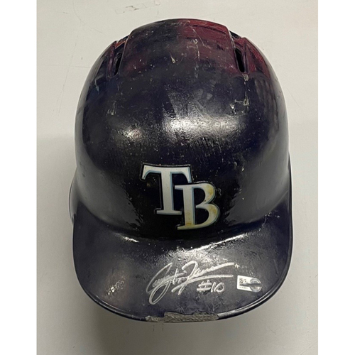 Photo of Rays Baseball Foundation: Autographed TB Helmet - Corey Dickerson