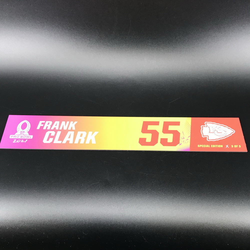 NFL - Chiefs Frank Clark 2021 Pro Bowl Locker Nameplate Special Edition #5 of 5