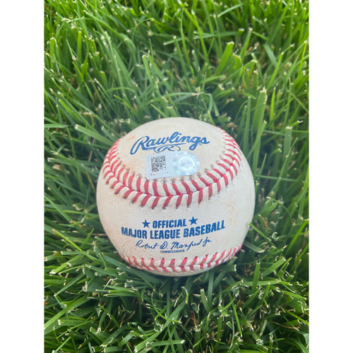 Photo of Cardinals Authentics: Game Used Pitched Baseball by Johan Oviedo to Ke'Bryan Hayes *Single RBI*