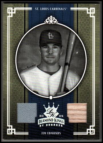 Photo of 2005 Diamond Kings Materials Gold #209 Jim Edmonds Bat-Jsy/50