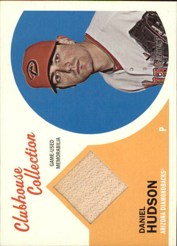 Photo of 2012 Topps Heritage Clubhouse Collection Relics #DHU Daniel Hudson