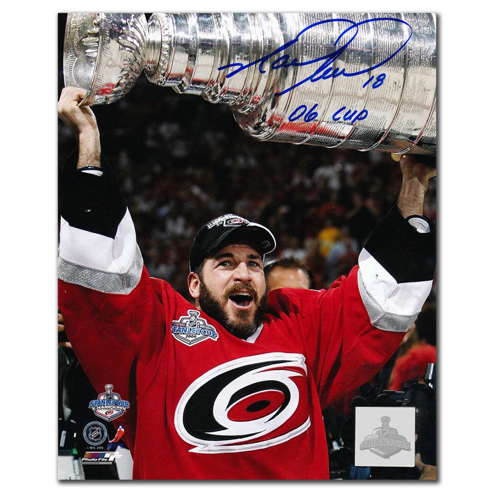 Mark Recchi Carolina Hurricanes 2006 Cup Autographed 8x10