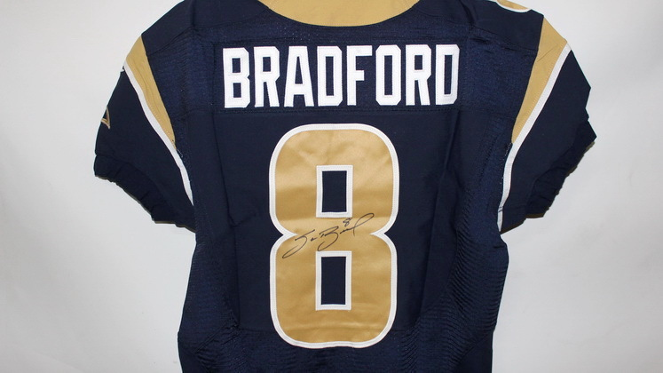 NFL Auction | RAMS - SAM BRADFORD SIGNED AUTHENTIC JERSEY