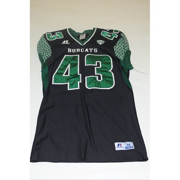 Photo of # 43 - Official OHIO BOBCATS Game Worn Football Jersey (2011) - SIZE MEDIUM