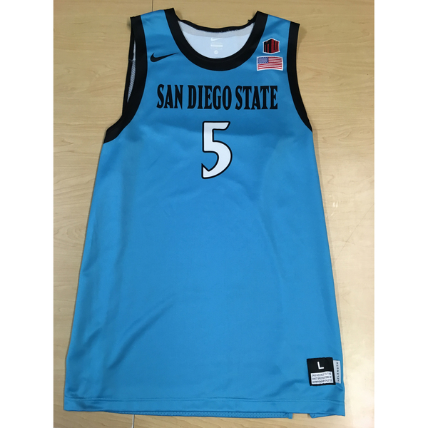 Photo of Game-Worn SDSU Nike N7 Native Night Basketball Jersey: Turquoise #05