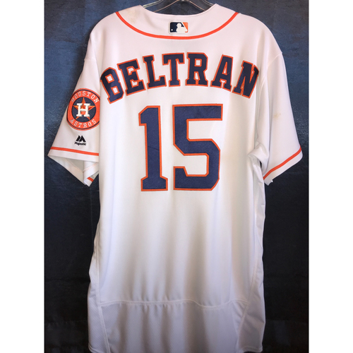 Photo of 2017 Team-Issued Carlos Beltran Home Jersey: Size - 46