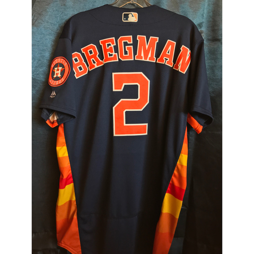 Photo of 2018 Game-Used Alex Bregman Sunday Alternate Jersey