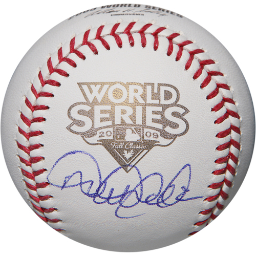 Photo of Derek Jeter Autographed 2009 World Series Baseball