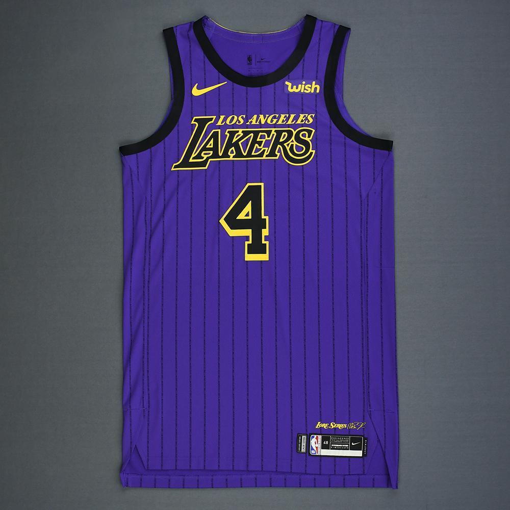 ce1e8c4978b Alex Caruso - Los Angeles Lakers - Game-Issued City Edition Jersey - 2018-