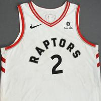 Kawhi Leonard - Toronto Raptors - 2019 NBA Finals - Game 1 - Game-Worn White Association Edition Jersey - Scored 23 Points