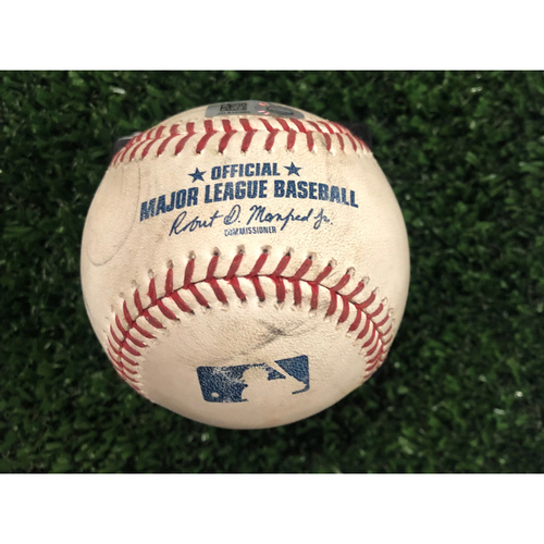 Photo of Bryce Harper Game Used Hit Single Baseball - July 4, 2019
