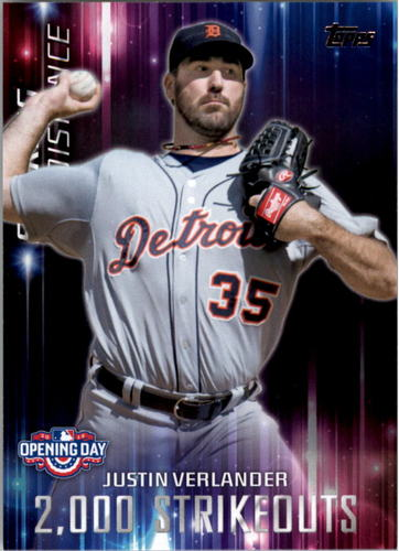 Photo of 2016 Topps Opening Day Striking Distance #SD8 Justin Verlander