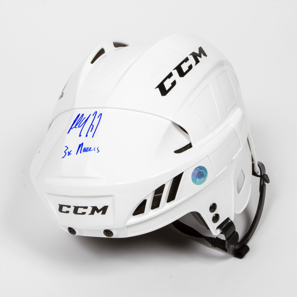Paul Coffey Signed CCM Hockey Helmet with 3x Norris Note - Edmonton Oilers