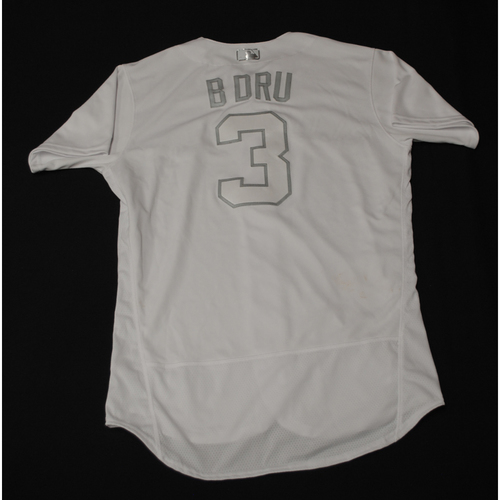 "Photo of Brandon ""B DRU"" Drury Toronto Blue Jays Game-Used 2019 Players' Weekend Jersey"