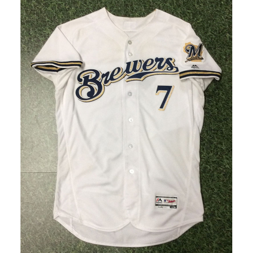 Photo of Eric Thames 04/02/18 Game-Used Home Opener Jersey - 2-4, 2B, 2-Run HR