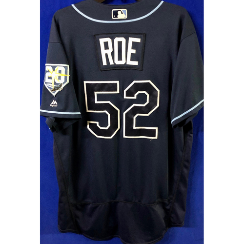 Photo of Game Used Jersey: Chaz Roe (H, 1.0IP, 1 SO, 0 ER) - September 29, 2018 v TOR