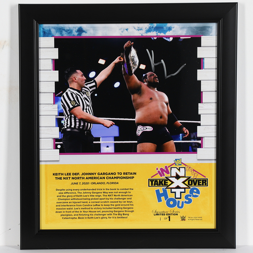 Photo of Keith Lee SIGNED In Your House 2020 Signature Series Frame (#1 of 1)
