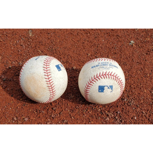Photo of 2007 NLDS Phillies Game-Used Baseballs - Games 1 & 2