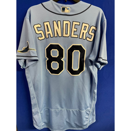 Photo of Game Used 2020 Spring Training Jersey: Phoenix Sanders - 1 Game - March 4 v TOR