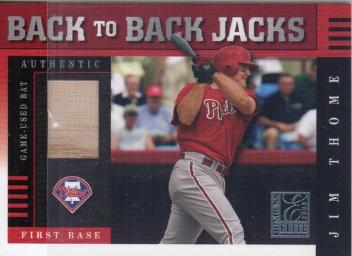 Photo of 2003 Donruss Elite Back to Back Jacks #8 Jim Thome