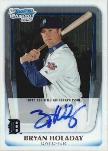 Photo of 2011 Bowman Chrome Prospect Autographs #BCP173 Bryan Holaday