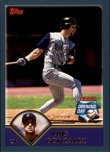 Photo of 2003 Topps Opening Day #77 Luis Gonzalez